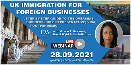 UK Immigration for Foreign Businesses tickets