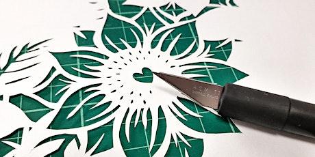 Fantastic florals papercutting. tickets