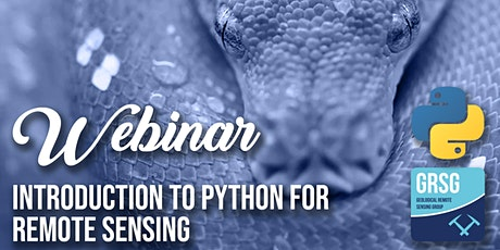 Introduction to Python for Remote Sensing tickets