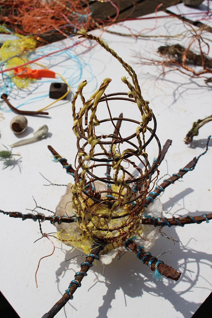 Family Sculpture Workshop with recycled materials image