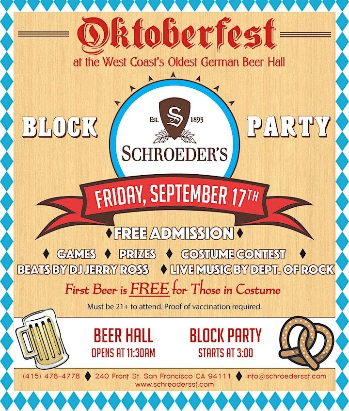 Schroeder's Oktoberfest Block Party 2021! image