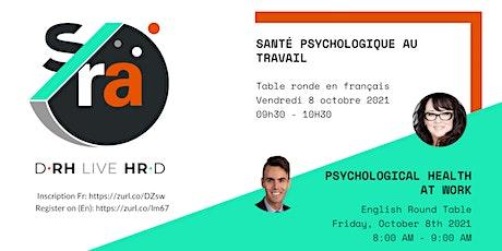 D-RH Live HR-D : Santé psychologique au travail billets