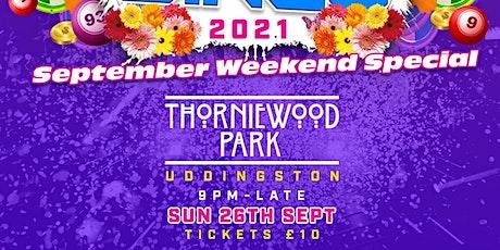 Thorniewood park ( Zander Nation Bounce Bingo ) tickets