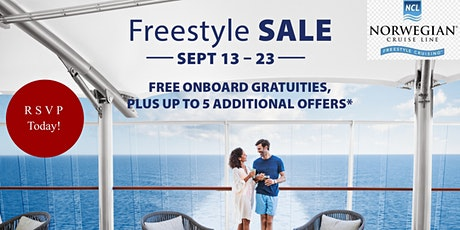 Norwegian Cruise Line Freestyle Sales Event September 21 from 6:00-7:30pm! tickets