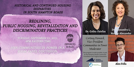 Historical and Continued Housing Disparities in South Hampton Roads tickets