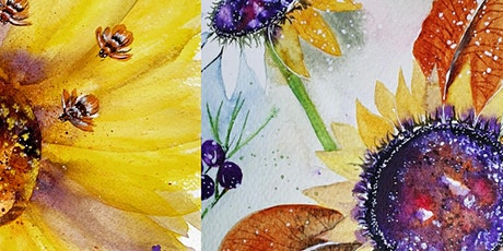 Loose Atmospheric Sunflower Watercolour Workshop tickets
