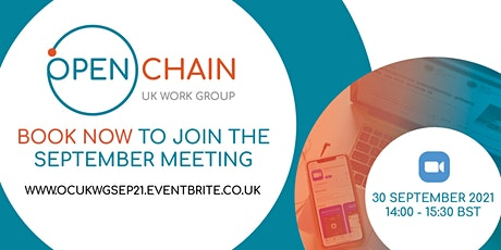 OpenChain UK Work Group September Meeting tickets