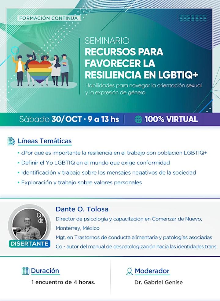 Imagen de Seminario Recursos para favorecer la resiliencia en LGBTIQ+