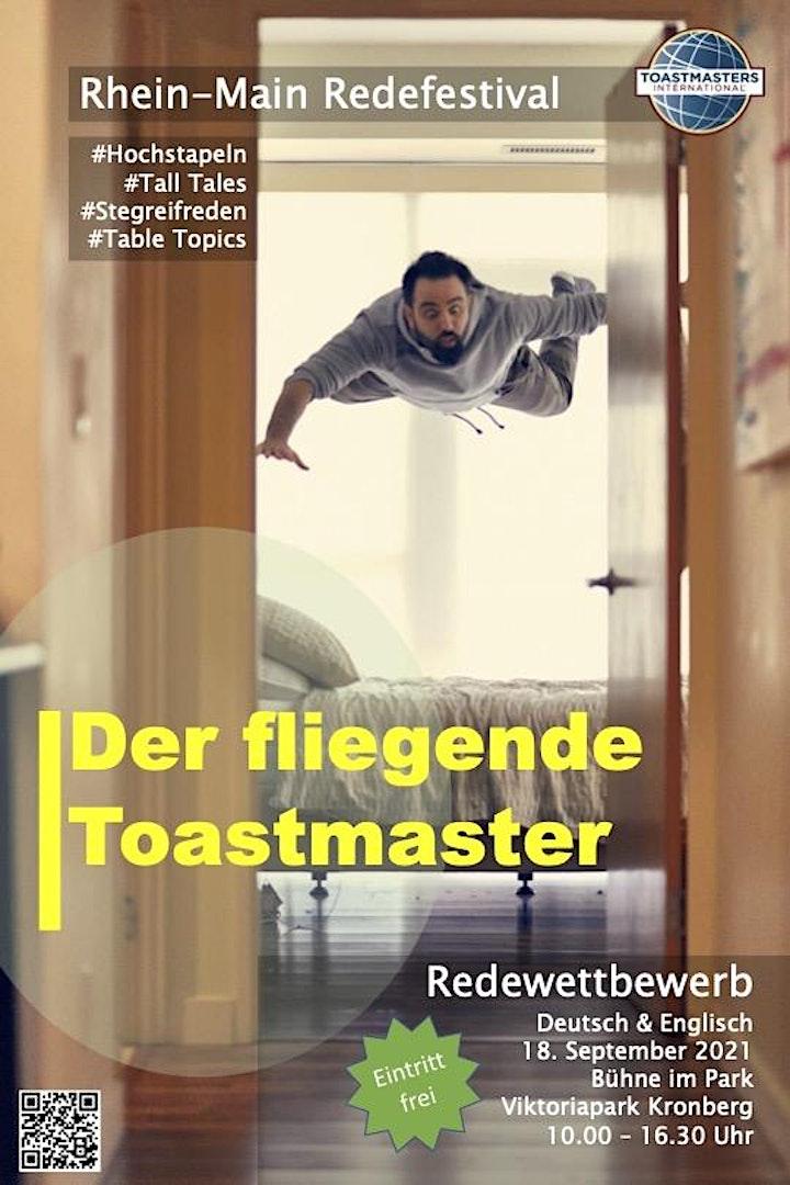 Rhein-Main Redefestival 2021 -  Der fliegende Toastmaster image