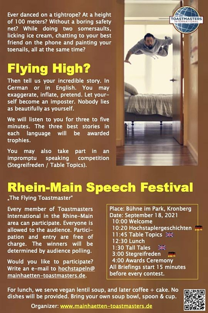 Rhein Main Speech Festival 2021 - The Flying Toastmaster image