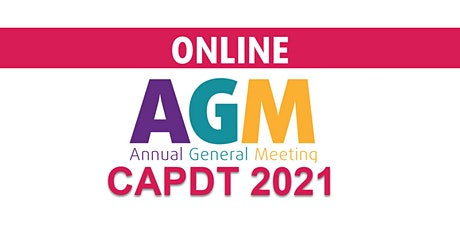 CAPDT AGM 2021 tickets