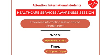 Healthcare Services Awareness for International Students tickets