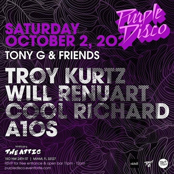 Purple Disco Featuring TonyG & Friends Upstairs of rácket Wynwood image