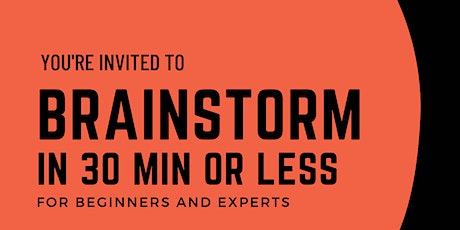 Brainstorming in 30 minutes - (for public sector) tickets