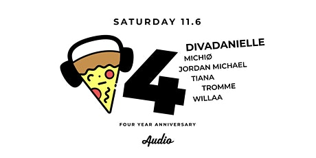 Pizza and Techno at AUDIO SF: 4 Year Anniversary tickets