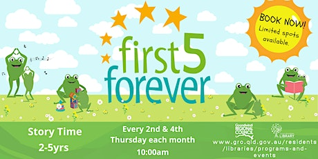 First Five Forever Story Time (0-5years) tickets