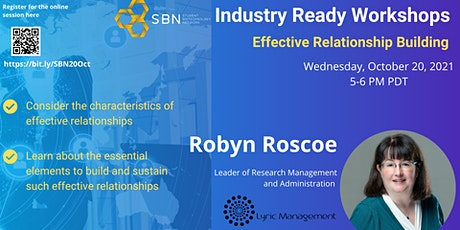 Industry Ready Workshop Series : Effective Relationship Building tickets