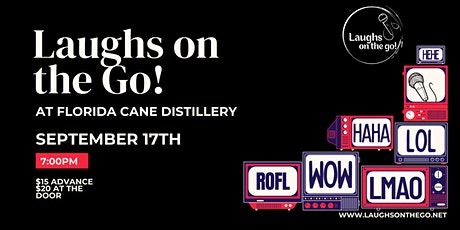 Comedy and Cocktails at Florida CANE Distillery - Live Stand Up Comedy tickets