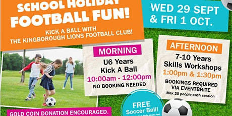 School Holiday Fun! KLUFC  Ball Skills Workshop  7-10 year old's tickets