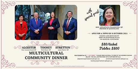 Multicultural  Community Dinner with Premier Annastacia Palaszczuk tickets