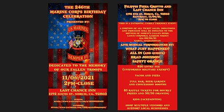246th Marine Corps Birthday Celebration tickets