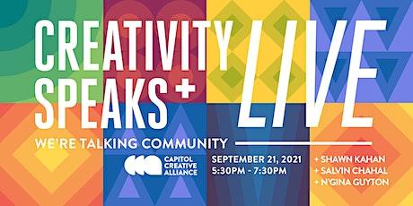 Creativity Speaks Live tickets