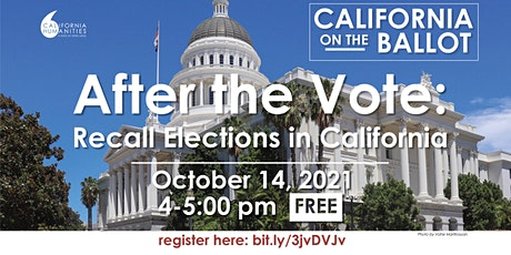 After the Vote: Recall Elections in California tickets