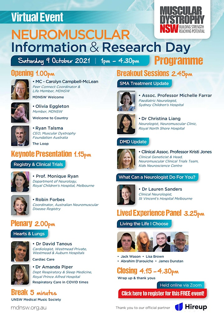 2021 MDNSW Neuromuscular Information & Research Day image