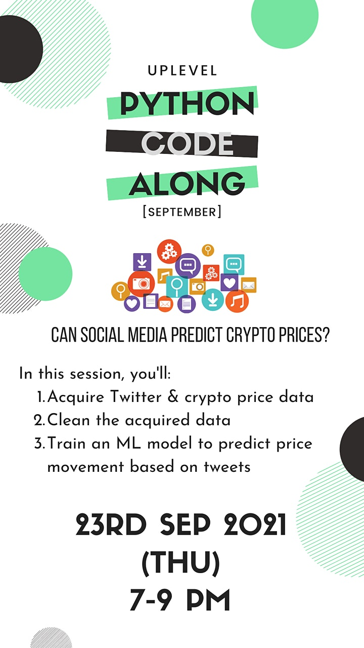 Code-Along #6: Can social media data predict cryptocurrency prices? image