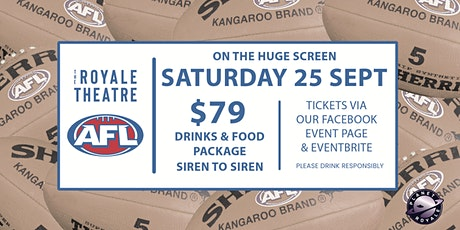 AFL GRAND FINAL - ON THE HUGE SCREEN tickets