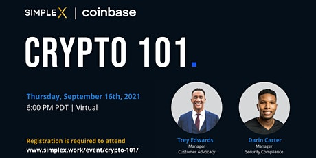 Crypto 101: Introduction to cryptocurrency. tickets