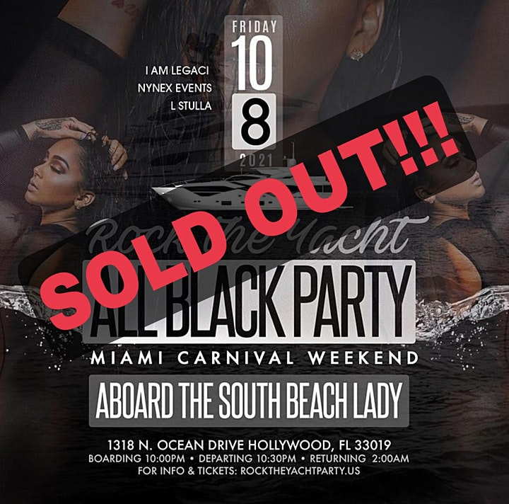 ROCK THE YACHT 2021 ALL BLACK YACHT PARTY MIAMI CARNIVAL image