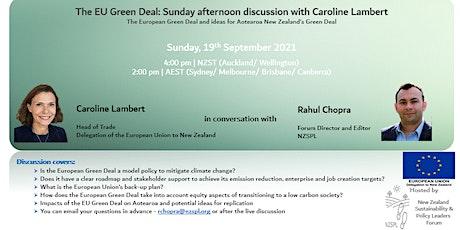 The European Green Deal: Ideas for Aotearoa NZ tickets