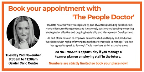 Book your appointment with 'The People Doctor' tickets