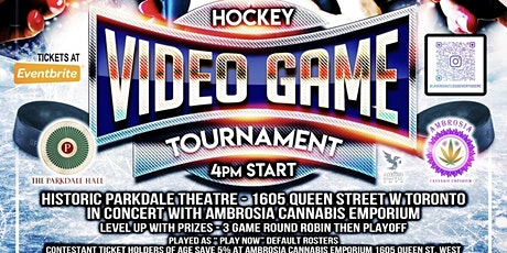 Parkdale Hall Hockey Video Game Tournament tickets