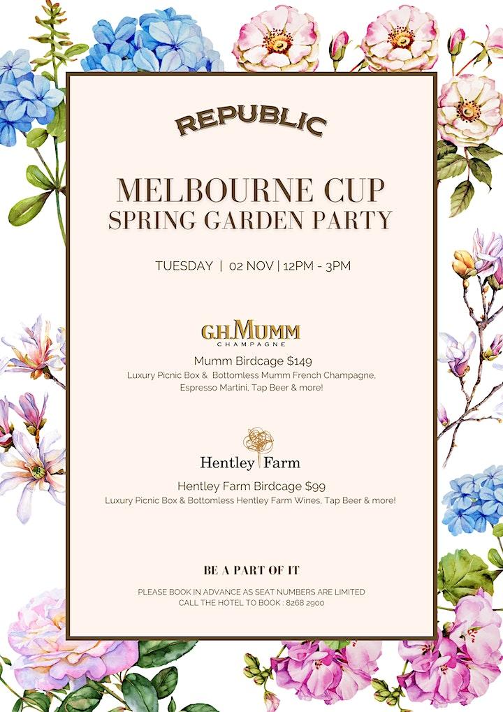 Republic Melbourne Cup Spring Garden Party image
