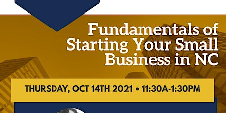 FUNDAMENTALS OF HOW TO START A SMALL BUSINESS IN NC tickets