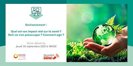 Participez à notre Agora : Environnement et son impact sur notre santé billets