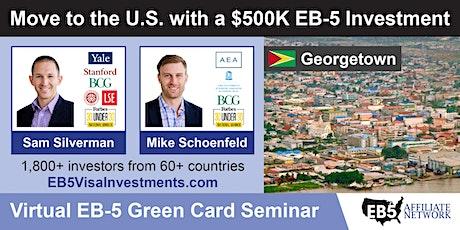 Georgetown EB-5 American Green Card Virtual Seminar tickets
