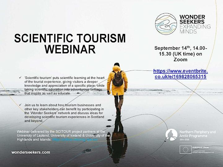 Scientific Tourism Webinar image