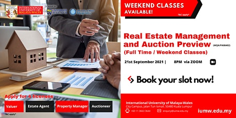 IUMW Bachelor of Real Estate Management and Auction (BREMA) Preview tickets