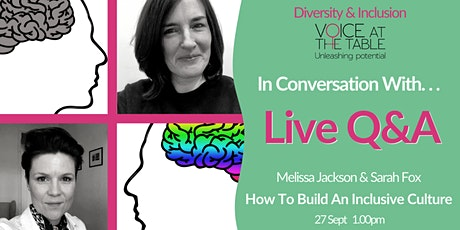 Diversity and Inclusion Q&A  LIVE with Voice At The Table tickets