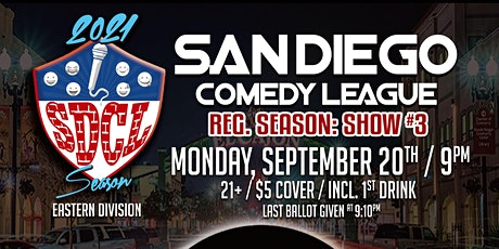 San Diego Comedy League Show at The Grand, Mon. 9/20 , 9pm tickets