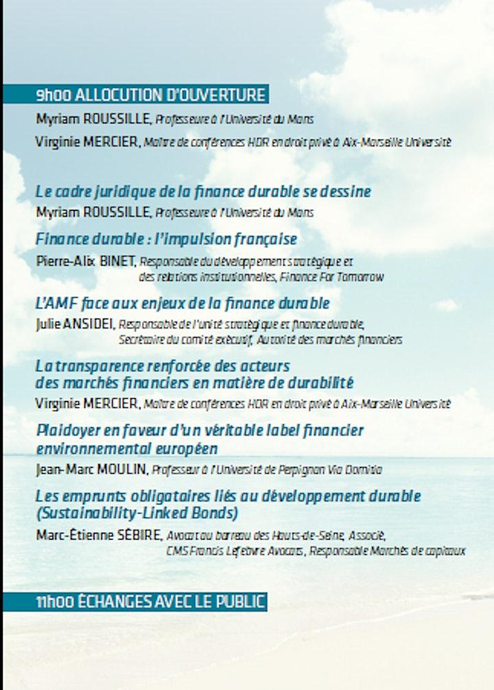"""Image pour Colloque  """"La finance au service du climat"""""""