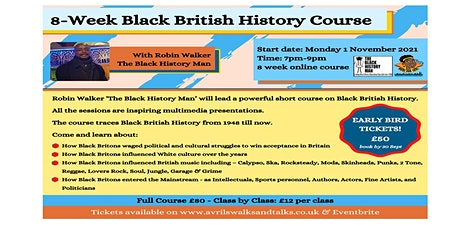 Black British History from 1948 to now tickets