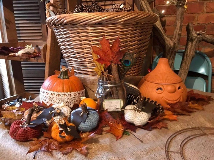 Autumnal wreath making image
