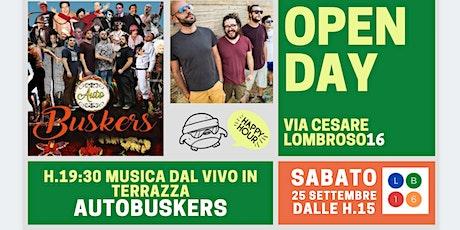 Lombroso16 Open Day - Concerto in Terrazza con AUTOBUSKERS biglietti
