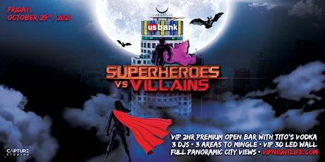 Halloween LA party -  Superheroes vs Villains Tower tickets