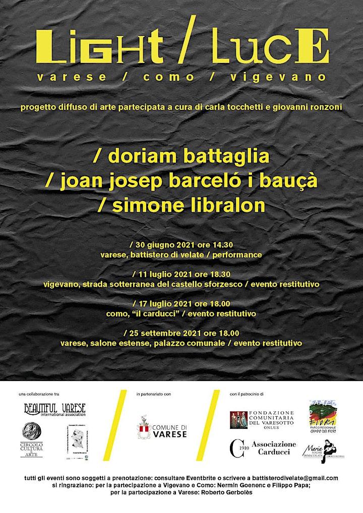Immagine LIGHT/LUCE: Varese, evento conclusivo in Salone Estense (25.09)