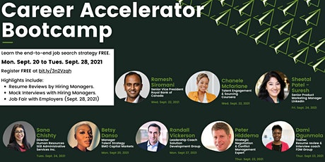 FREE Career Accelerator Bootcamp tickets